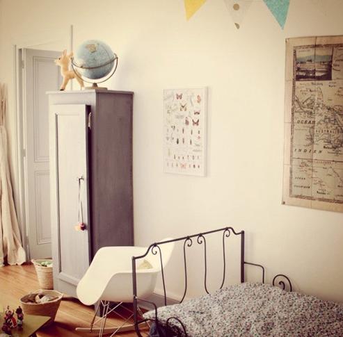vintage modernoDormitorio-infantil