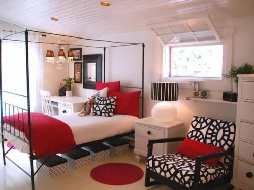 rojodecoracion-dormtorios-ambiente-juvenil-negro-blanco-rojo1