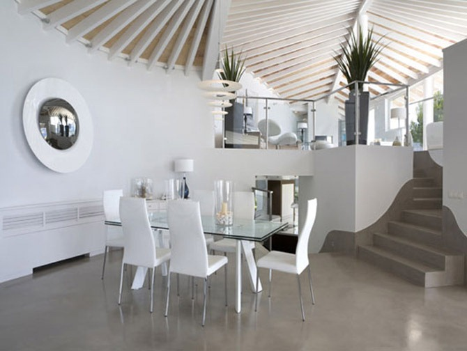 comedor-moderno-minimalista-blanco