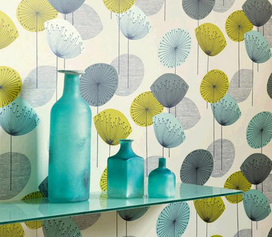 turquesabotes-azules-sobre-papel-pintado-setentero