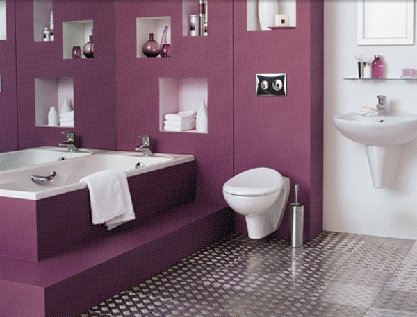 decoracion-de-baños-en-morado