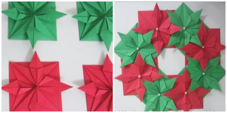 DIY-corona-de-navida-de-origami