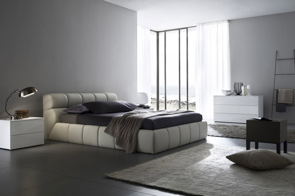 Dormitorios de Color Gris 7
