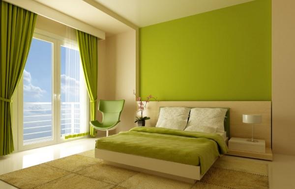 dormitorio-beige-y-verde