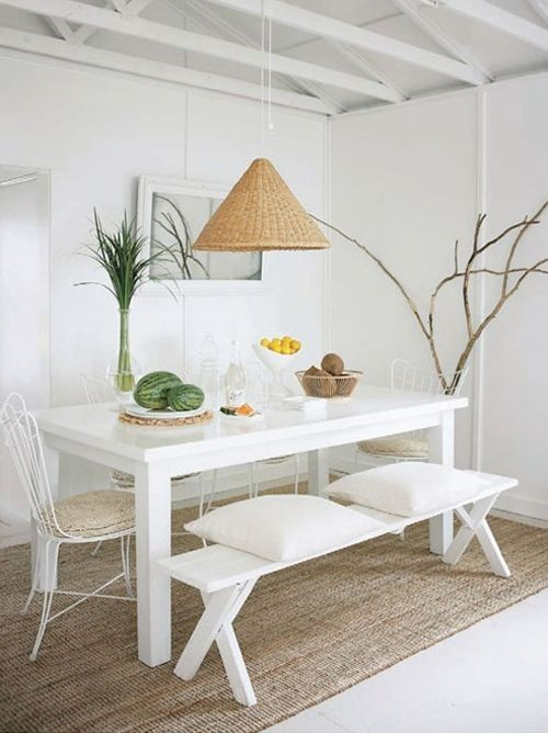 blancocomedor-decoracion-blanco-moderno-sencillo