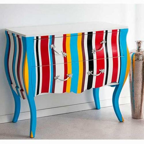 muebles-pintadoscomoda-francesa-rayas-colores