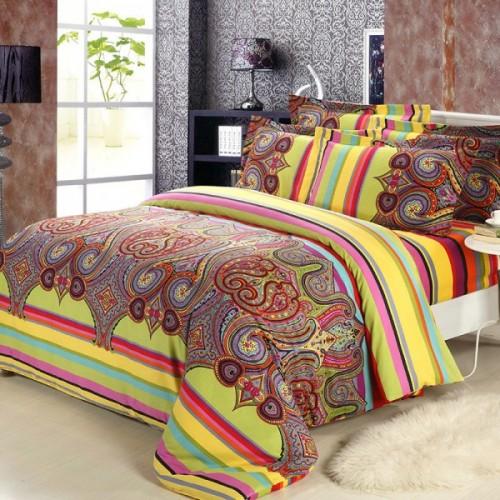 camas2015-nueva-algodón-peinado-bohemia-juegos-de-cama-edredón-Boho-del-estilo-marroquí-hoja-de-cama