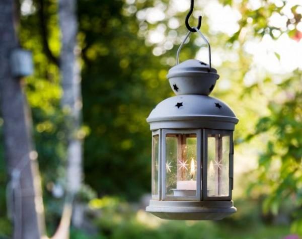 lampara y vela para jardin