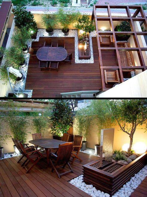 Diseño De Patios Terrazas Y Jardines Modernos Con Fotos