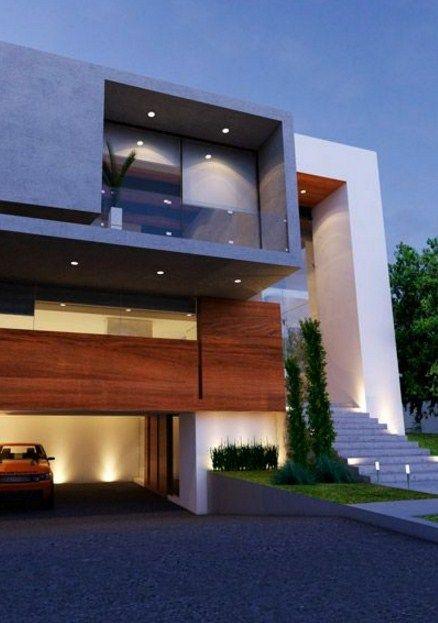 Colores de fachadas de casas modernas tendencias 2019 for Fachadas modernas para casas de tres pisos