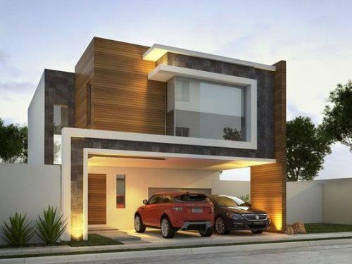 Colores de fachadas de casas modernas tendencias 2019 - Que es un porche en arquitectura ...