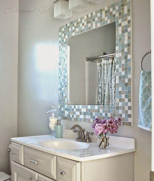 Espejos para ba os modernos peque os y originales - Espejos pequenos ...