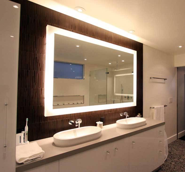 Espejos para ba os modernos peque os y originales - Lamparas para espejos de bano ...